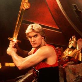 O herói Flash Górdon, em filme de 1980
