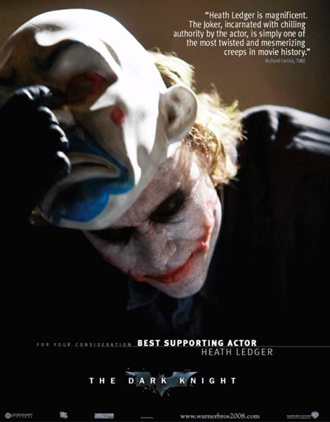 Heath Ledger ganha uma indicação ao Globo de Ouro