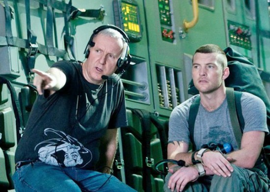 James Cameron e Sam Worthington, protagonista de Avatar