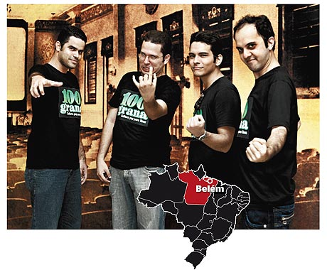Diego Andrade, Vinicius Passos, Danilo Passos e Sérgio Fiore.