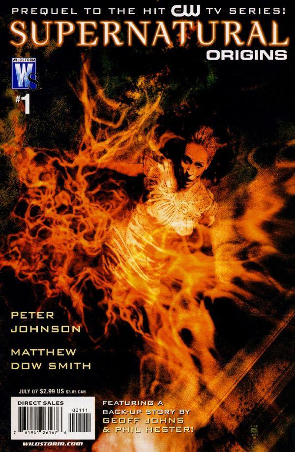 Capa da primeira edição de Supernatural Origins, publicada pela Wildstorm