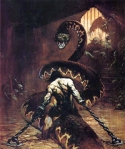 Cover de Frazetta para Conan , The Usurper