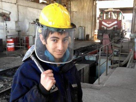 o jovem Ibrahim Ozden