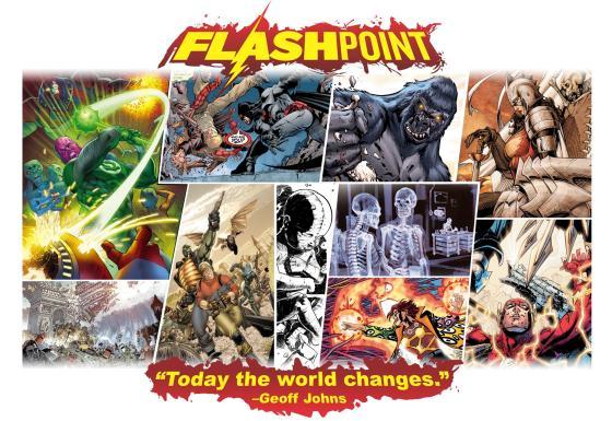 A saga Flashpoint dos quadrinhos.