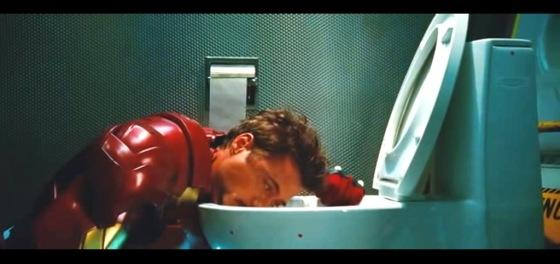 Tony Stark bêbado e de cara na privada? Disney não deixa, Disney não quer