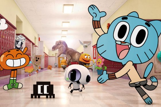 Gumball e seus amigos na escola